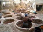 Moroccan dye baths