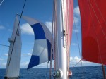 full sails up... the spinaker my love... and the mizzen staysail, my... well, my arch nemesis