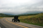 Its the 100yr celebration of Glacier National Park, so lots of old cars!
