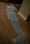 My route maps layed out :) wooo that was a long ride!