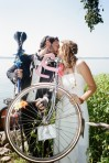 The bride and groom - Love and Bicycles